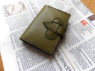 イタリアンレザーのカードケース/オリーブの画像