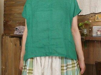 リネン*Wガーゼ*フレンチ袖プルオーバーの画像