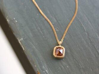 K18 ローズカット・ダイヤモンドネックレス 〈オクタゴン・ブラウン〉の画像