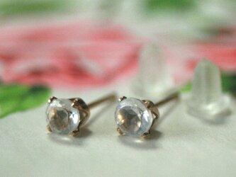 4mm*大粒 14kgf クオーツ(水晶) 宝石質 天然石 ピアス クリスマス プレゼント ビジュー 結婚式 ウエディングの画像