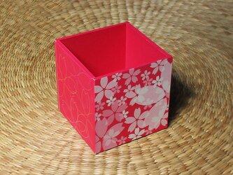 桜のペン立て(ピンク)の画像