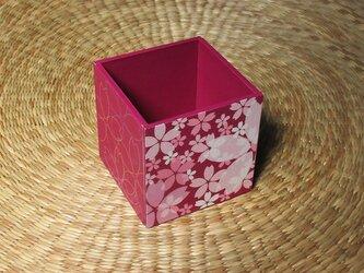 桜のペン立て(パープル)の画像