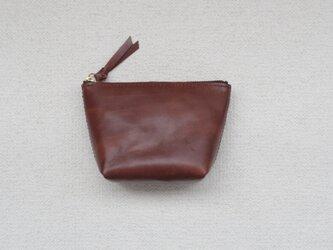本革のポーチ⑨ brown 2の画像