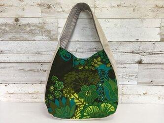 ワンショルダーバッグ、ヴィンテージ、グリーン植物の画像