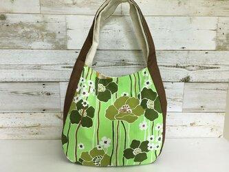 ワンショルダーバッグ、ヴィンテージ、緑のポビーの画像
