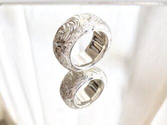 レディース メンズ  総手彫 アラベスク 唐草 リング シルバー 無垢 指輪の画像