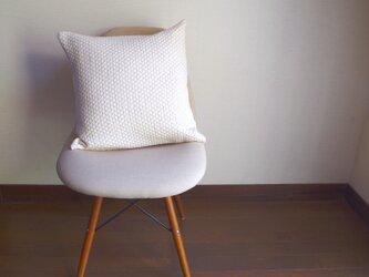 手織りクッションカバー サンドの画像