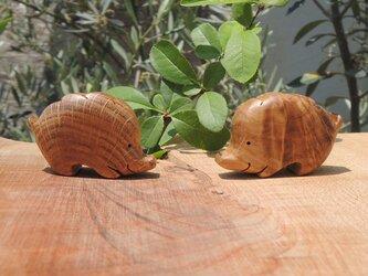 小さな猪の置物(2個セット) №3の画像