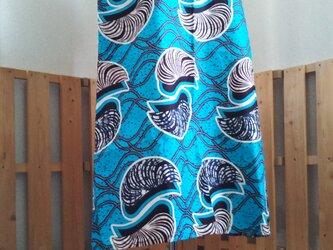 アフリカの布でワンピースの画像