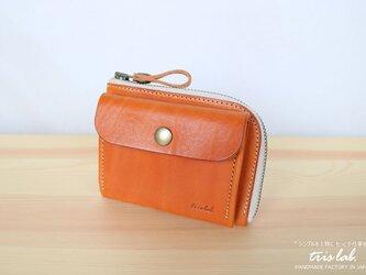 ポッケのついたちいさなお財布 イタリアレザー ライトブラウン の画像