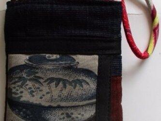 4325 #送料無料 着物で作ったスマホポーチの画像