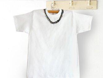シロツメネックレスTシャツ(MENS/ホワイト)の画像