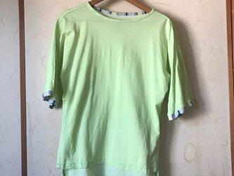 黄緑鹿の子Tシャツの画像