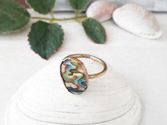 【11号】abalone shell ringの画像