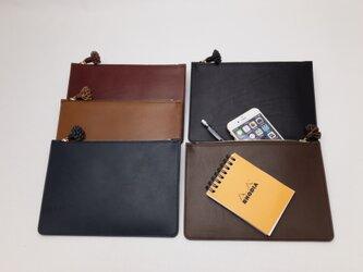 pouch & clutch bag Blackの画像