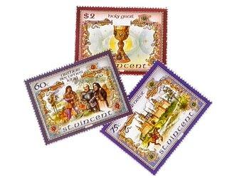 セントビンセント「アーサー王物語」切手セット(Saint Vincent Vintage)DA-STE124の画像