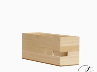 桐のA4ボックスファイル 横型 ハーフの画像