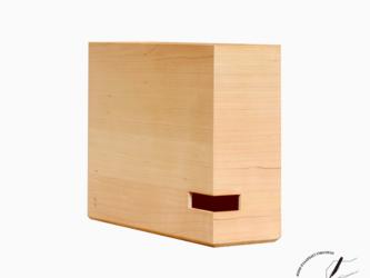 ブラックチェリーのA4ボックスファイル 横型の画像