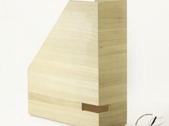 桐のA4ボックスファイル 縦型の画像