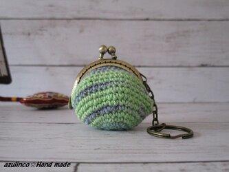 手編み ミニガマ口 Opal 9714  アンティークゴールドの画像