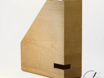 ブラックチェリーのA4ボックスファイル 縦型の画像