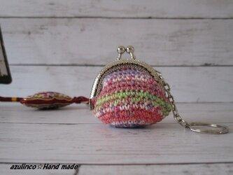 手編み ミニガマ口 Opal 154 シルバーの画像