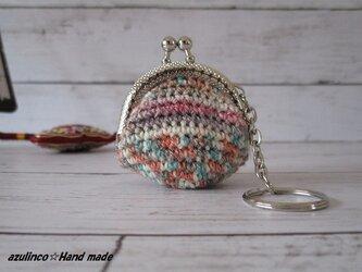 手編み ミニガマ口 Opal 2501 シルバーの画像