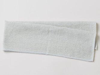 リネンニットのメッシュタオル|グレーの画像