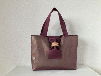 帯バッグ〜ボルドー〜の画像