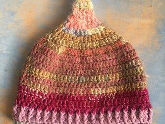 紅葉の巣  LL とんがり帽子 ニット帽 の画像