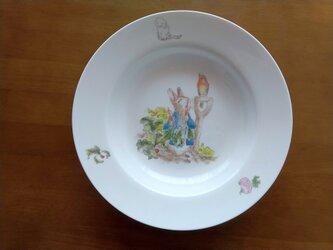 ★一点物★手描きスープ皿★うさぎ★の画像