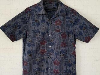 大島紬リメイク紳士シャツの画像