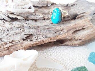 【12号】kingman turquoise ring -brass-の画像