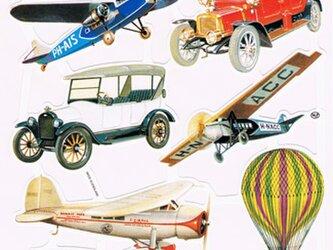 イギリス製クロモス クラシックカーや飛行機 ラメなし DA-CHER020の画像