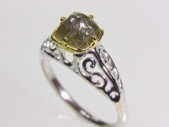 ダイヤモンド 18k Diamond Ring □Vの画像