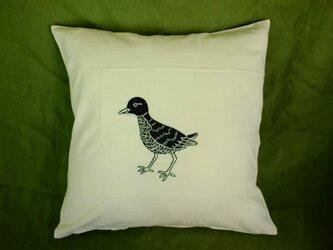 手刺繍クッションカバー(小鳥)の画像