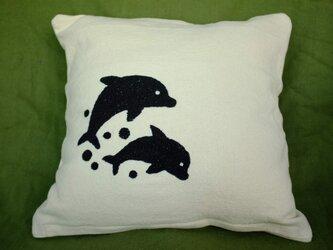 手刺繍クッションカバー(Hisbiscus)の画像