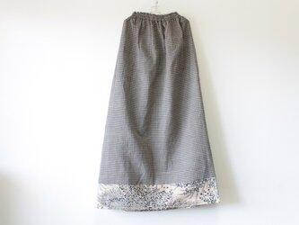 ☆浴衣ロングスカート☆茶色パッチワーク♪/31ys41の画像