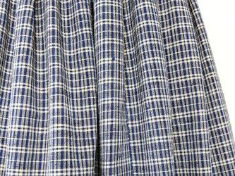 木綿着物リメイク:タックスカートの画像