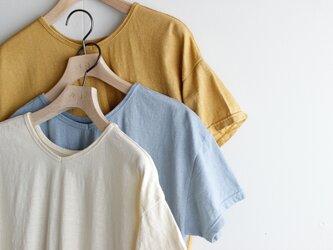 used plain stitches/neck reversible tshirt/ecru(生成り色)の画像