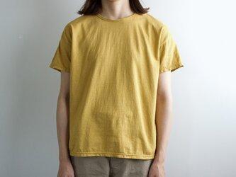 used plain stitches/neck reversible tshirt/cinnamonの画像