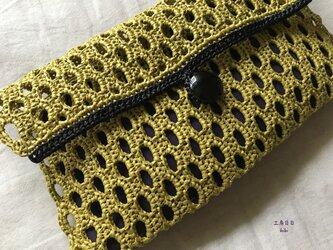 『hibi』ネット編みのクラッチバッグの画像