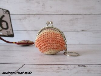 手編み ミニガマ口 Opal 9711 シルバーの画像