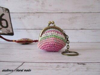 手編み ミニガマ口 Opal 9710 アンティークゴールドの画像