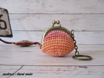 手編み ミニガマ口 Opal 9711 アンティークゴールドの画像