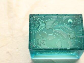 ガラス製 書道具 水差し「明鏡止水」の画像