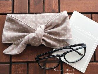 保冷剤 スモーク ピンク ベージュ 水玉 ダブルガーゼ 綿100% 節約 快適 エコ スカーフ ネッククーラーの画像
