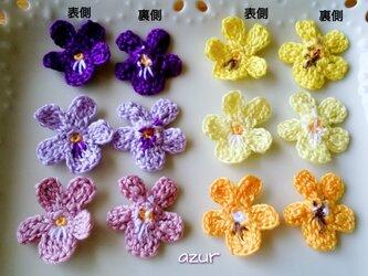 スミレの花のモチーフ・5枚の画像