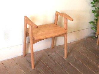 玄関スツール「リリー」<チェリー板座>の画像