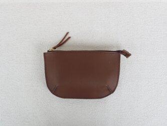 本革のポーチ  ⑩  (brown)の画像